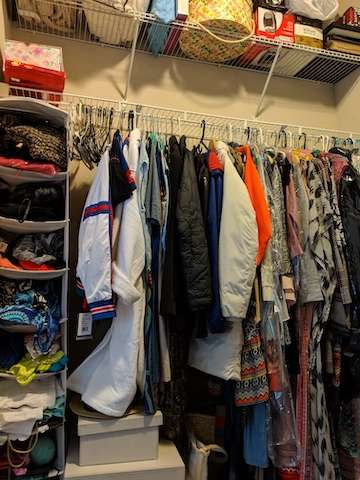 Closet before Neatly Placed LLC